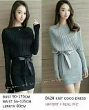 Jual Kafis Shop Knit Coci Dress Black Dress Wanita Universal Online