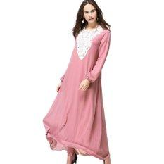 Jual Kaftan Muslim Gaun Jilbab Abaya Islam Berwarna Merah Muda Oem Di Hong Kong Sar Tiongkok