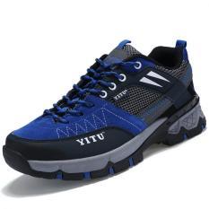 Harga Kailijie Profesional Pria Mesh Hiking Shoes Pasangan Biru Origin