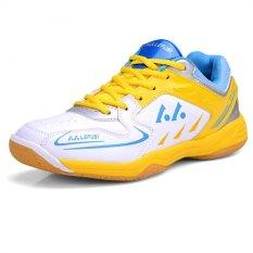 Beli Kailijie Pelatihan Olahraga Pria Sh A1 Sepatu Bulutangkis Profesional Kuning Hitam Pake Kartu Kredit