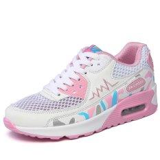 Beli Barang Kailijie Wanita Bernapas Mesh Walking Shoes White Pink Intl Online