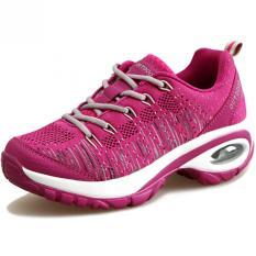 Toko Kailijie Sepatu Olahraga Wanita Menenun Berlari Z07 Merah Tiongkok