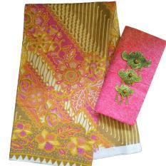 Kain Batik halus dan Kain Embos (Satu Set), Bahan Batik untuk Kemeja, Blus, Kebaya dsb. (KBKE001-01A) Batik Alhadi