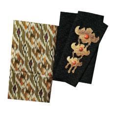 Kain Batik halus dan Kain Embos (Satu Set), Bahan Batik untuk Kemeja, Blus, Kebaya dsb. (KBKE001-32A) Batik Alhadi