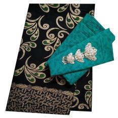 Kain Batik halus dan Kain Embos (Satu Set), Bahan Batik untuk Kemeja, Blus, Kebaya dsb. (KBKE001-27B)