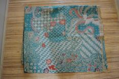 Kain Batik Motif Burung Lawasan Warna Hijau Tosca