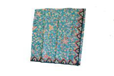 Kain Batik Yogyakarta Motif Bunga Warna Hijau Tosca