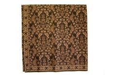 Kain Batik Yogyakarta Warna Cokelat Tua Motif Daun
