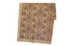 Kain Batik Yogyakarta Warna Coklat Muda Motif Daun