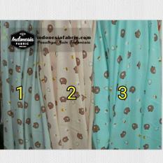 Kain Gamis Kain Wolfis Woolpeach motif Line Series   Brown - Prima Mart