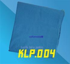 Kain Lurik katun multiwarna biru polos khas Jogja Surakarta