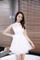 Kain Organza Pinggang Orang Dewasa Ball Gown Manis Putri Rok Putih 8265 Terbaru