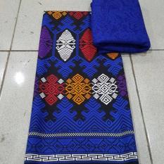 kanaya - kain satin kebaya bali setelan motif songket jembrana - biru