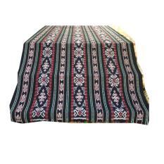 kain tenun blanket motif jambi hitam, bahan tenun, tenun ikat