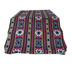 kain tenun blanket motif maluku hitam - kain ikat etnik