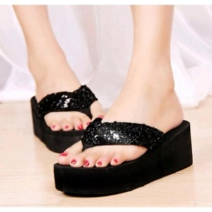 KAISAR-Sandal Wedges Nevada [BLACK]