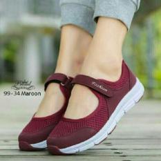 {kaisar} sepatu bwanita kets zn30 fashion  maroon
