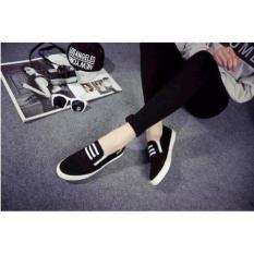 KAISAR-sepatu wanita flatshoes slip on black