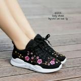 Review Kaisar Sepatu Wanita Kets Sneakers Jj29 Black Terbaru