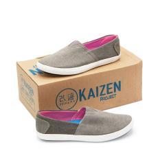 Jual Beli Online Kaizen Sepatu Slip On Kanvas Sneakers Wanita B Lsc 123 2Nd Hk 01 Abu Abu Size 36 40