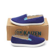 Jual Kaizen Sepatu Slip On Kanvas Sneakers Wanita B Lsc 123 1Nd Biru Size 36 40 Kaizen Original