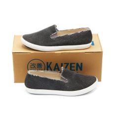 Beli Kaizen Sepatu Slip On Kanvas Sneakers Wanita Lsc 123 1Nd Hitam Apricot Size 36 40 Kredit