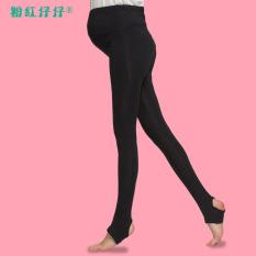 Kaki Kecil Musim Semi atau Musim Gugur Celana Pensil Wanita Hamil Legging ( Hitam Model Musim