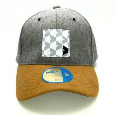 Kalibre 991269-010 Topi Baseball Cap Hat Warna Abu Grey Brim Coklat Suede