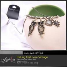 Kalung Owl Love Vintage JANC.KCV1.GG