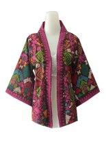 Kampung Souvenir - Cardigan Kimono Songket - Magenta