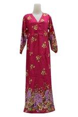 Kampung Souvenir - Gamis Bali Manohara - Pink Fanta With Flowers