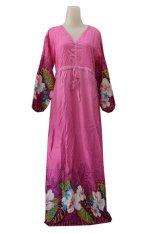 Kampung Souvenir - Gamis Bali Manohara - Pink With Flowers