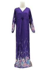 Kampung Souvenir - Gamis Bali Manohara - Purple With Flowers