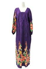 Kampung Souvenir - Gamis Bali V Neck - Purple Orchid