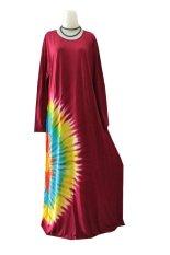 Beli Kampung Souvenir Gamis Jersey Big Size Maroon Seken