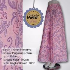 Kampung Souvenir Kulot Etnik Motif Bunga Pink