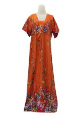 Kampung Souvenir - Long Dress Mano Flowers - Orange