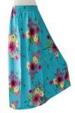 Harga Kampung Souvenir Rok Klok Light Blue With Sakura Paling Murah