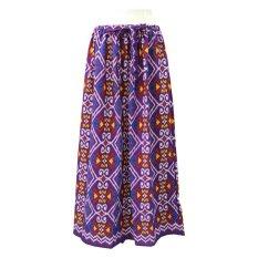 Kampung Souvenir - Rok Motif Tenun Endek - Purple