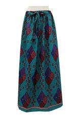 Kampung Souvenir - Rok Motif Tenun - Turquoise