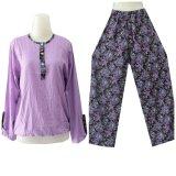 Harga Kampung Souvenir Setelan Kulot Purple Flowers Baru Murah