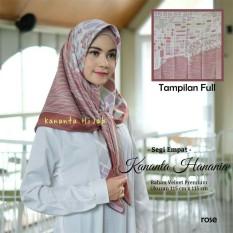 Kananta Hijab Segi Empat Motif / Jilbab Segi Empat Motif / Kerudung Segi Empat Motif / Square K-Kubika Panel / Bahan Kain Velvet Premium