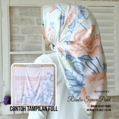 Kananta Hijab Segi Empat Motif / Jilbab Segi Empat Motif / Kerudung Segi Empat Motif / Square K-Rosalia / Bahan Kain Velvet Panel Premium