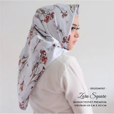 Kananta Hijab Segi Empat Motif / Jilbab Segi Empat Motif / Kerudung Segi Empat Motif / Square K-Zara