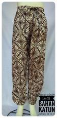 kanaya - celana panjang aladin murah motif batik bahan rayon pinggang karet bahan katun adem