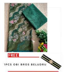 kanaya - FREE OBI BROS setelan kain satin batik ukir uk. 2 mtr dan brokat lembaran uk. 1.5 mtr kebaya bali murah bahan kebaya pesta kebaya wisuda kebaya kutubaru
