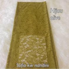 kanaya - kain brokat sofia lembaran uk. 1.5 mtr *1.4mtr bahan kebaya bali murah dress baju seragaman