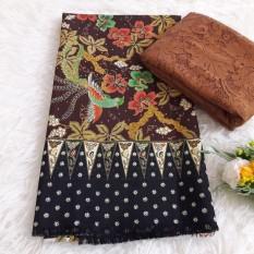 kanaya - setelan kain satin batik milea ukuran 2mtr*1,15mtr  dan brokat lembaran uk. 1.5 mtr kebaya bali murah bahan kebaya pesta kebaya wisuda kebaya kutubaru