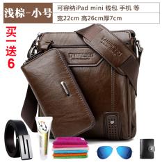 Spesifikasi Tas Pria Kangaroo Tas Tangan Tas Bahu Dengan Satu Tali Tas Pria Kecil Coklat Muda 26X22X7 Dan Harganya