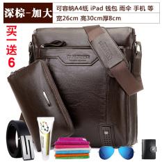 Katalog Tas Pria Kangaroo Tas Tangan Tas Bahu Dengan Satu Tali Tas Pria Ukuran Plus Versi Coklat Gelap 30X26X8 Terbaru
